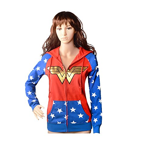 GDreamer WW9 Wonder Woman Teen Adult Hoodie Costume for Halloween Cosplay Party S-XL (S)