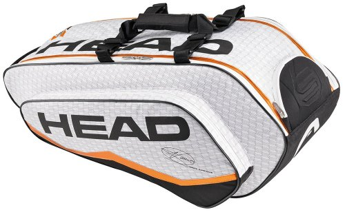 Head Tennistasche Novak Djokovic Combi 90 Liter, Weiß, 33 x 78 x 35 cm, 283033