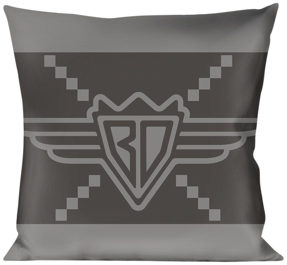 Buckle Down BD Monogram2 Grays Throw Pillow Multicolor