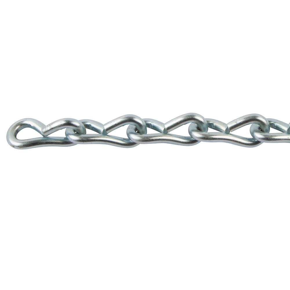 Perfection Chain Products 54368#8 Single Jack Chain, Plated Steel Zinc, 50 FT Carton