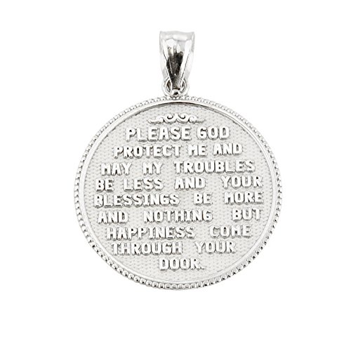 Us air force sterling silver with prayer blessing pendant necklace previous next aloadofball Choice Image