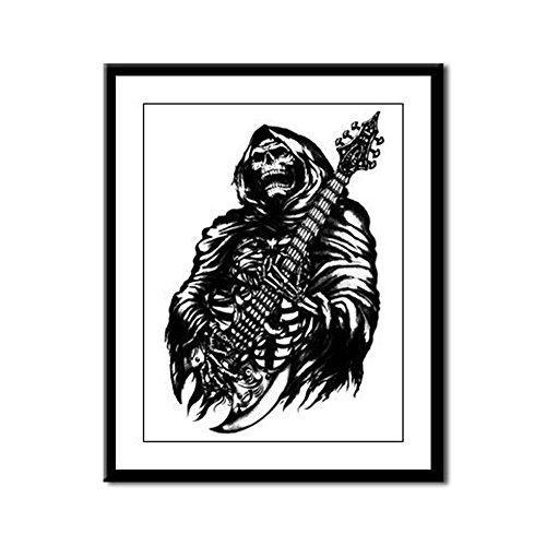 Framed Panel Print Grim Reaper Heavy Metal Rock Player