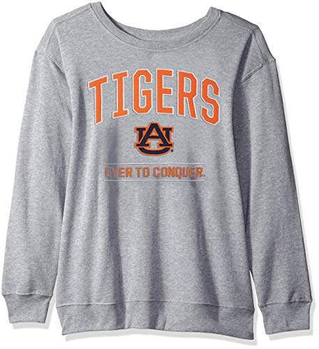J America NCAA Auburn Tigers Womens NCAA Women's Light Weight Oversized Fleece, Medium, Oxford
