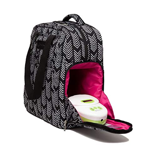 Sarah Wells Kelly Convertible Breast Pump Bag and Backpack (Black and White) by Sarah Wells (Image #8)