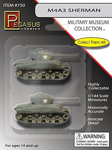 (Pegasus 0750 M4A3 Sherman Tanks 1/144 Scale Models Assembled & Painted)