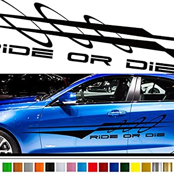 Amazoncom Line Car Sticker Car Vinyl Side Graphics Car - Graphics for the side of a car