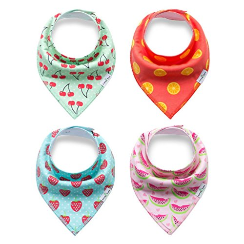 PET SHOW Pet Dog Bandanas Bibs Double Cotton Cat Puppy Triangle Scarfs Head Scarfs Accessories Pack of 4