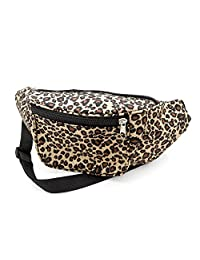 Brown Animal Leopard Print Waist Bag Fanny Pack Money Bum Bag Hip Belt