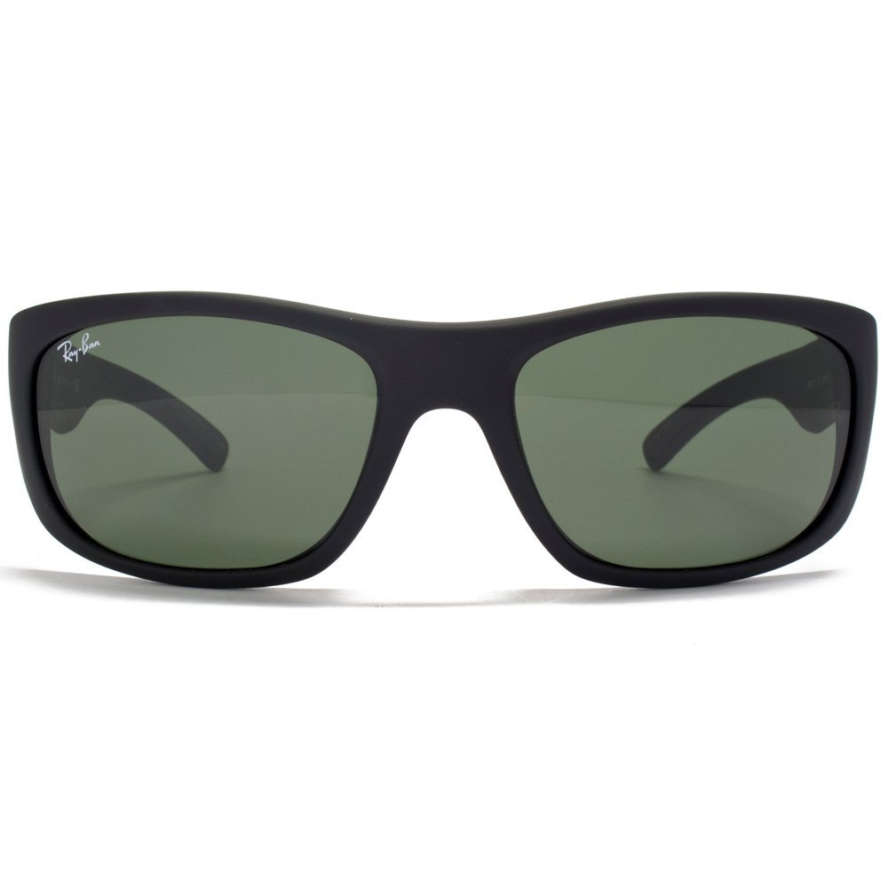 8d4464d0576 Ray-Ban Sport Wrap Sunglasses in Matte Black RB4177 622 58  Amazon.co.uk   Clothing