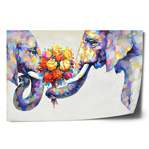 Crescent Art Abstract Elephant Flower Large Canvas for sale  Delivered anywhere in USA