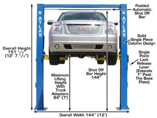 Atlas Equipment (ATEATPKOHX10000X) 10,000 lb  Capacity