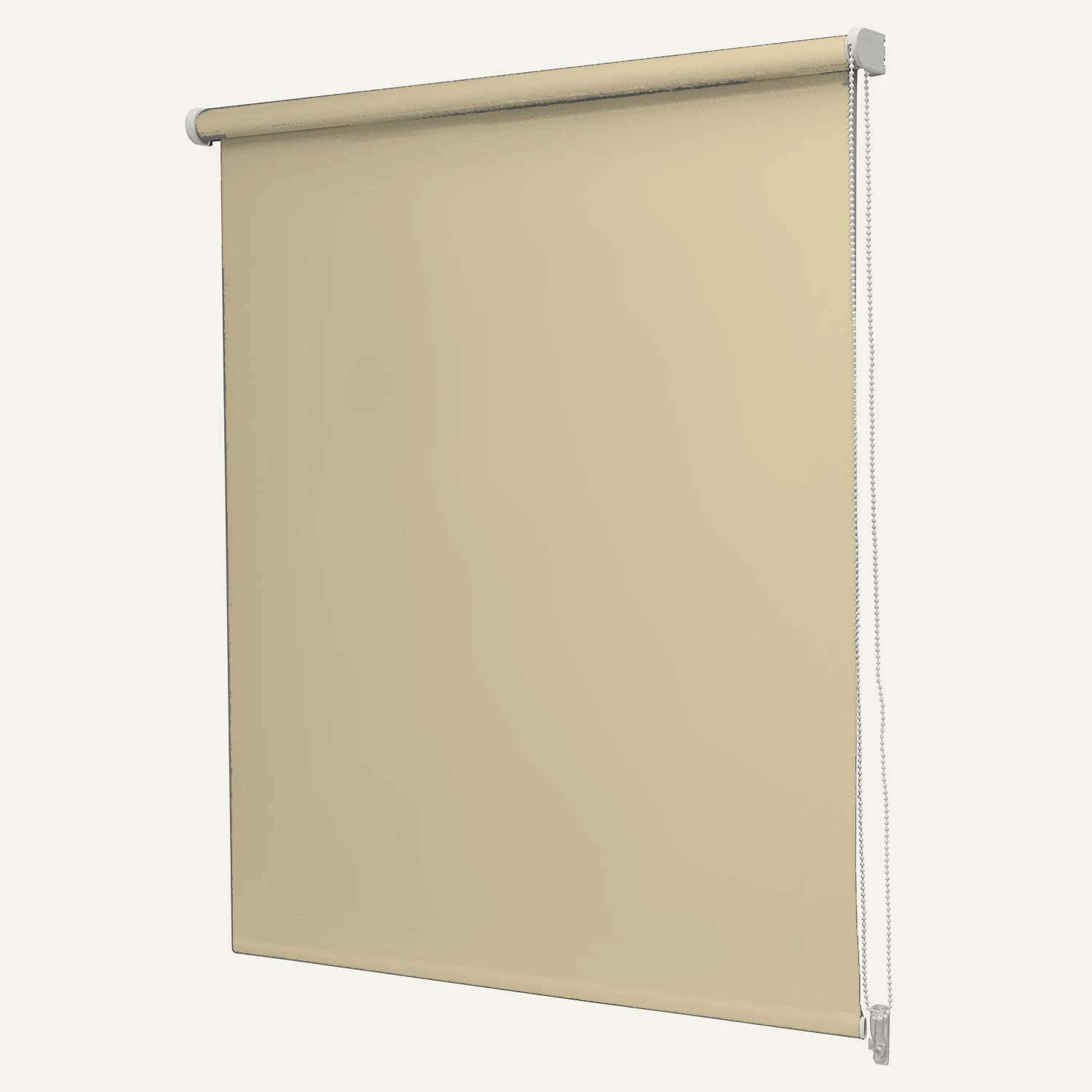 umlout Blackout CREAM 90cms Roller Blinds **METAL BRACKETS INCLUDED Available in 12 Colours And 6 Sizes**