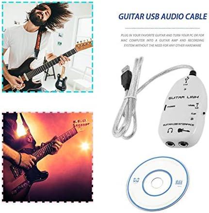 Bajo Guitarra eléctrica a USB Cable de enlace de interfaz ...