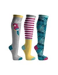 Girl's Fun & Colorful 3-Pack Knee Socks