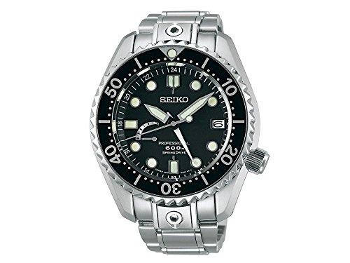 Seiko Mens PROSPEX Marinemaster Spring Drive Professional Dive Watch, SBDB011