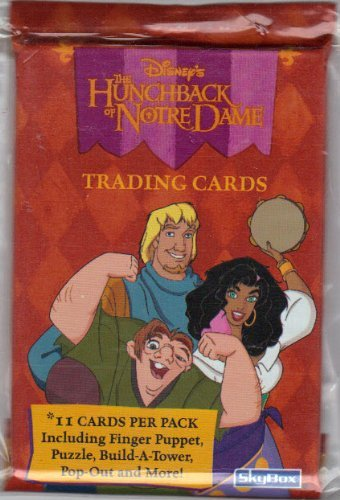 Disney's Hunchback Of Notre Dame Trading Card Pack - 11 cards per pack - Includes Finger Puppet, Puzzle, Build-A-Tower, Pop-Out and More! -  Skybox