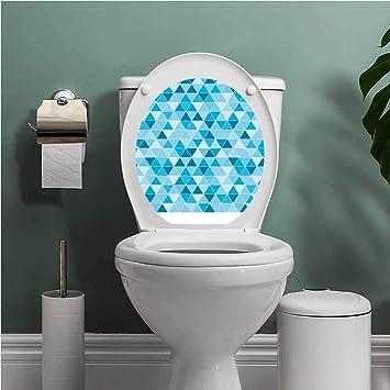 Amazoncom Scocici1588 Blue Bathroom Wall Stickers Toilet