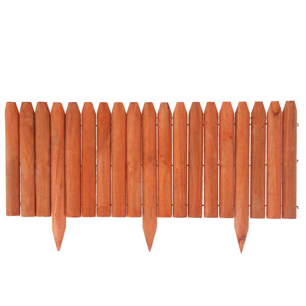 GZHENH 木製ボーダーフェンス チャイルドガードレール フラワープールエッジ 耐食性 手作り 先のとがった杭のデザイン 屋外の 2スタイル 4サイズ (Color : 3pcs, Size : B-118x46cm) B07TK92JRM 3pcs B-118x46cm