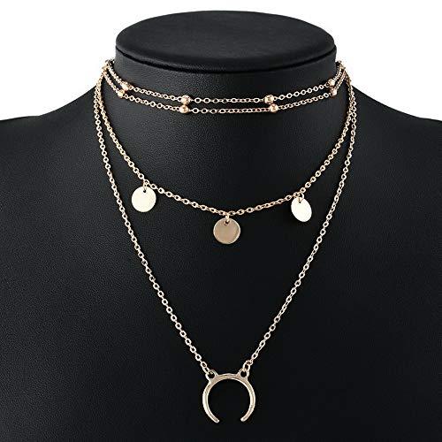 Werrox Fashion Charm Jewelry Women Choker Chunky Statement Bib Pendant Necklace Chain H | Model NCKLCS - 22222 |