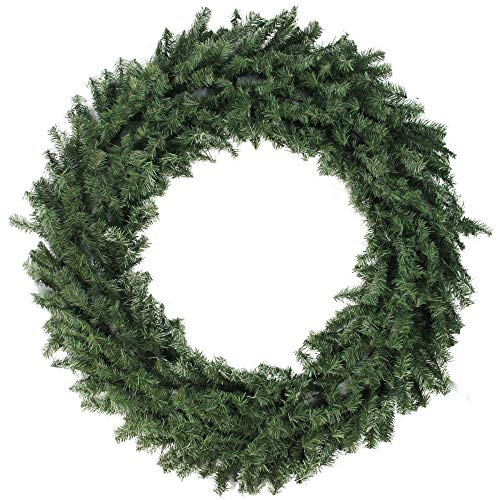 Northlight Canadian Pine Artificial Christmas Wreath - 48-Inch, Unlit (Outdoor Wreaths Christmas)