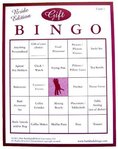 Amazon.com : Bridal Shower Gift Bingo (For 50 Guests) : Bingo ...