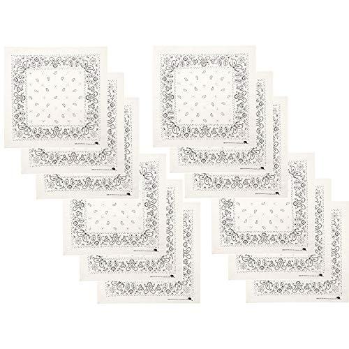 Elephant Brand Bandanas 100% Cotton Since 1898-12 Pack (Natural)