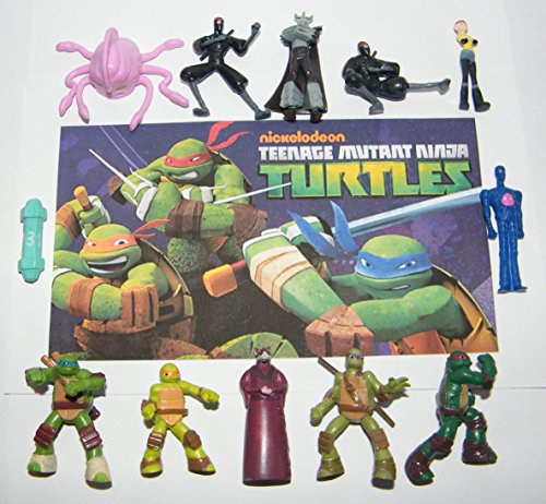 Teenage Mutant Ninja Turtle Deluxe Party Favors Goody Bag Fillers Set of 12 Figures with the 4 Turtles, Master Splinter, Shredder, Ninjas and More!
