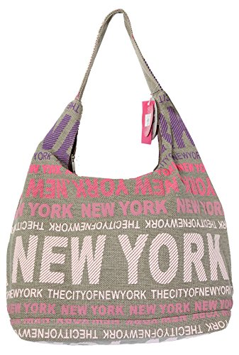 Robin Ruth New York City Cotton Fabric Hobo Shoulder Bag Pink