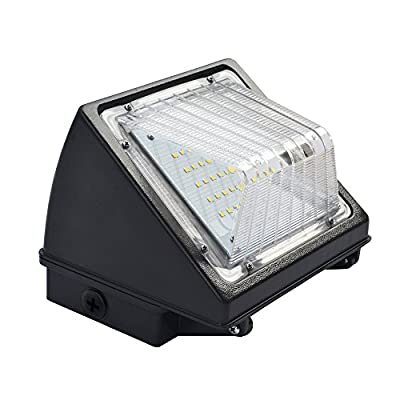 LED 45W Wall Pack Light Fixture, 4800 Lumens, 250-300W HPS/HID Replacement, 5000K (Crystal White Glow), IP65 Waterproof and Outdoor Rated, ETL & DLC, Christmas Promotion!
