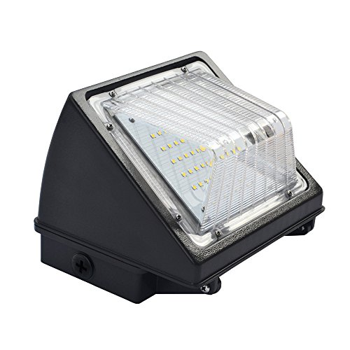 24W LED Wall Pack Light Outdoor Wall Lights, 2400 Lumens, 150-180W HPS/HID Replacement, 5000K (Crystal White Glow), IP65 Waterproof and Outdoor Rated, ETL & DLC