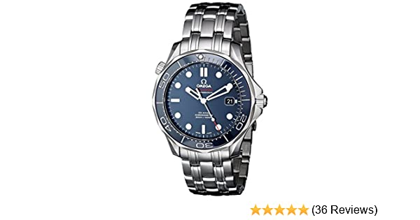 75838eb6c1b9 Amazon.com  Omega Men s O21230412003001 Seamaster Analog Display Automatic  Self-Wind silver-Tone Watch  Omega  Watches