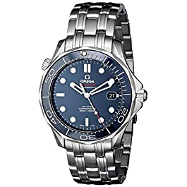 Omega Men's O21230412003001 Seamaster Analog Display Automatic Self-Wind silver-Tone Watch