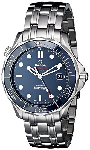 (Omega Men's O21230412003001 Seamaster Analog Display Automatic Self-Wind silver-Tone Watch)