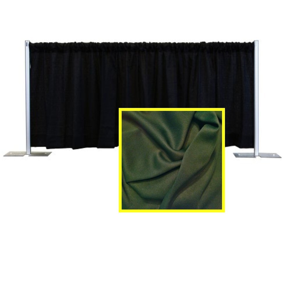Pipe and Drape Premier Backdrop Kit 3 ft. x 10 ft. - Hunter Green by P.D.O.