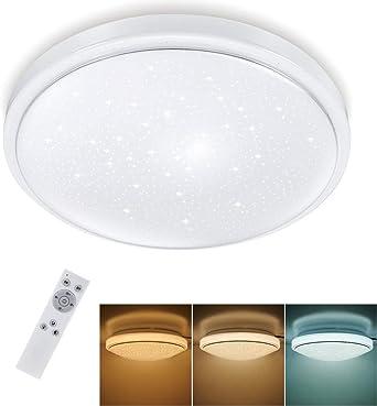 LED Deckenlampe Sternenhimmel Deckenleuchte Dimmbar Wohnzimmer mit Fernbedienung