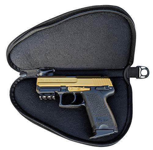 Cedar Mill Fine Firearms Deluxe Tactical Soft Pistol Case Large Thick Double Padding Handgun Magazine Ammo Carry Storage Protective Pouch Smith and Wesson Gun Range Portable Car Safe Bag