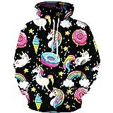 luyusbaby Boys Girls Unicorn Print Sweatshirts 3D Galaxy Pullover Kids Hoodies Pocket