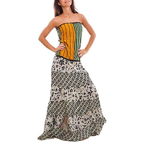 donna lungo IND ampia boho abito 401 Fantasia 24 sexy Toocool gonna etnico gipsy Vestito Ibiza 5EpPwnqaZ