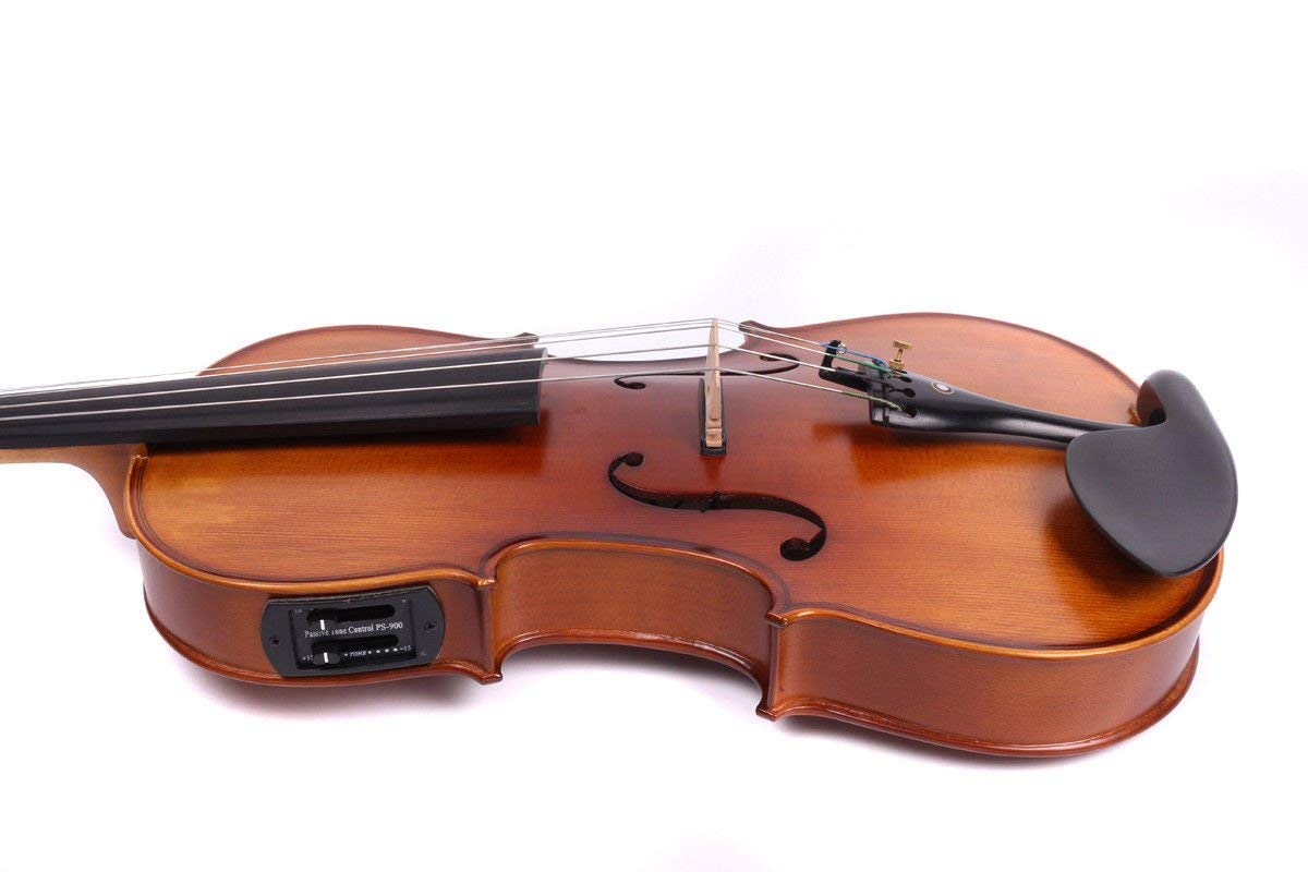 Yinfente 4/4 violin 5 string Electric violin Full size Maple Spruce wood Big jack Ebony wood Violin parts Sweet Sound by yinfente (Image #6)