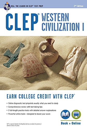 CLEP® Western Civilization I Book + Online (CLEP Test Preparation) (Clep Western)