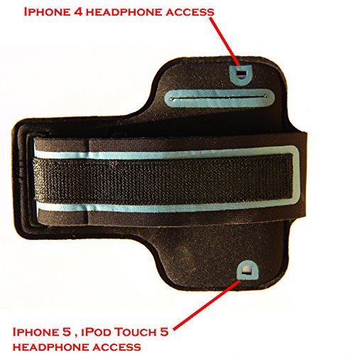iPhone-55S5c-SE-Running-Exercise-Armband-with-Key-Holder-Reflective-Band-Also-Fits-iPhone-44S-Black