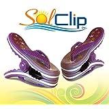 Beach Towel Clips, pegs, clamps, épingles, pinces à serviette de plage, SolClip Canada, Flip Flop Stars