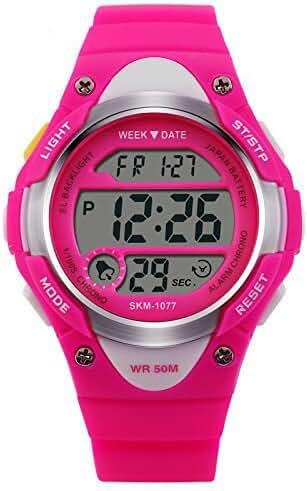 ALPS Kids Watch Multi Function Digital LED Water Resistant Sport Watch(Rose )