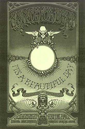 11 Inch Gothic Base - Grateful Dead Beautiful Day LIVE 1969 Retro Art Print — Poster Size — Print of Retro Concert Poster — Features Jerry Garcia, Bob Weir, Ron