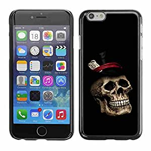 """Shell-Star ( Gentleman Skull Top Hat ) Fundas Cover Cubre Hard Case Cover para 4.7"""" iPhone 6"""