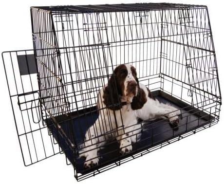 Mifauna Jaula metálica Plegable 77cm para Transportar Perros en ...