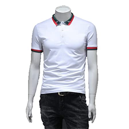 Camiseta de Hombre Camisa de Hombre con Cuello Redondo Botón de ...
