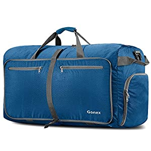 Gonex 100L Travel Duffel Bag Foldable Water Resistant Travel Bag Lightweight Duffel Bag with Big Capacity for Luggage…