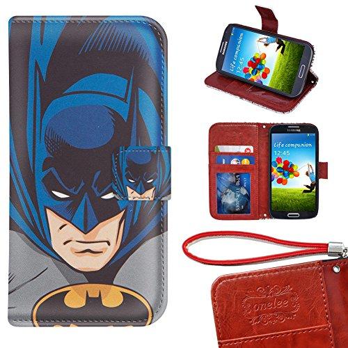 Samsung Galaxy S3 Mini Wallet Case, Onelee - Batman Premium PU Leather Case Wallet Flip Stand Case Cover for Samsung Galaxy S3 Mini with Card Slots (Samsung S3 Mini Batman Case compare prices)