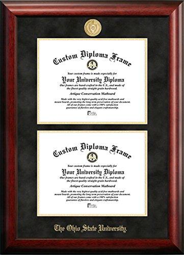 Ohio State University Double Degree Diploma Frame (8.5 X 11)